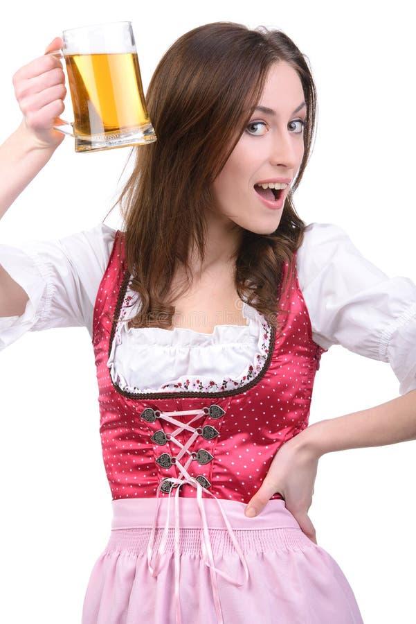 Fille avec de la bière photos libres de droits