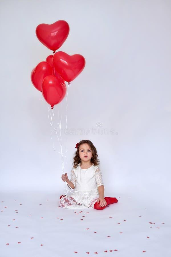 Fille avec des ballons photos stock