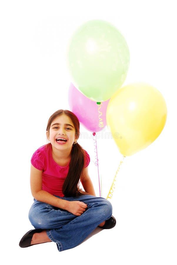 Fille avec des ballons photo libre de droits