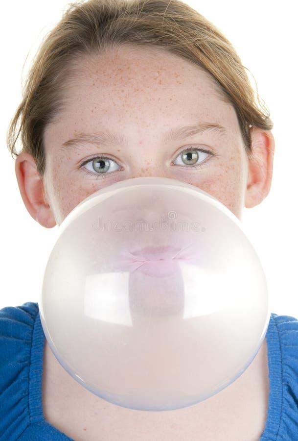 Fille avec la grande bulle photos libres de droits