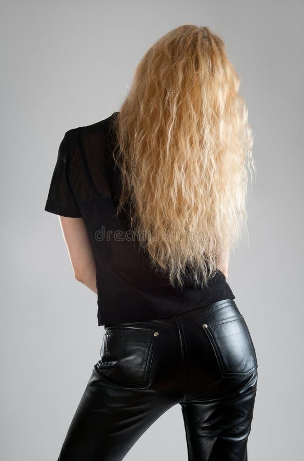 Fille avec le beau long cheveu photographie stock libre de droits