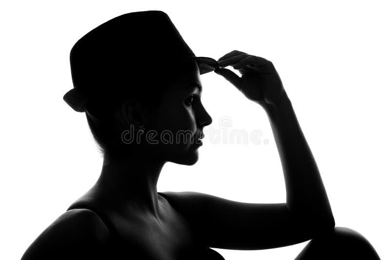 Fille avec le chapeau photo libre de droits