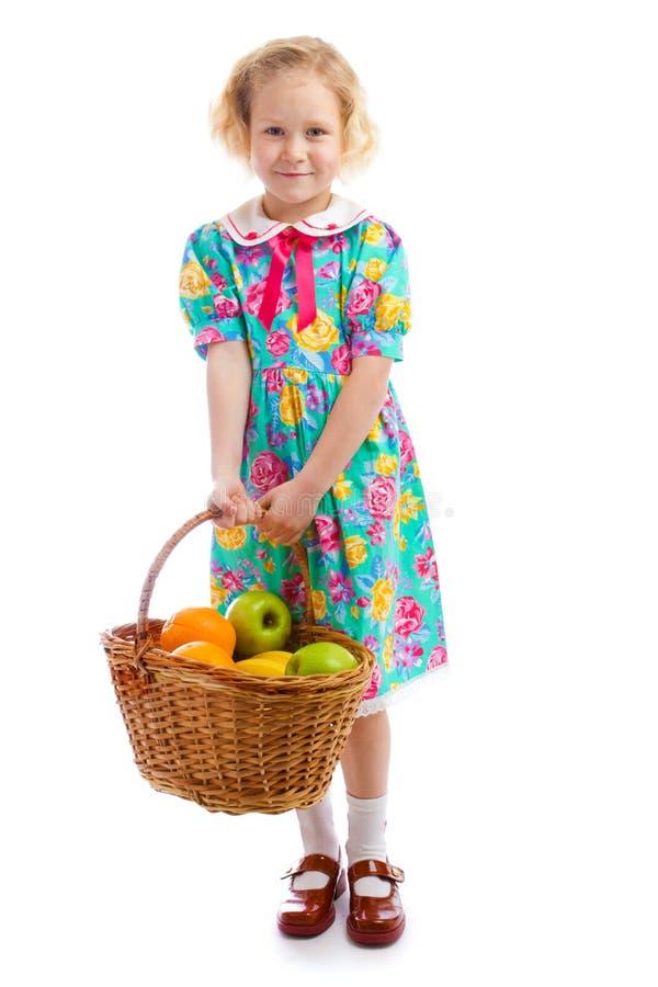 Fille avec le fruit photo libre de droits