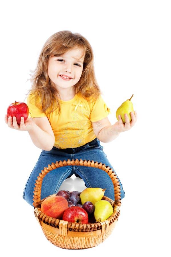 Fille avec le fruit image libre de droits