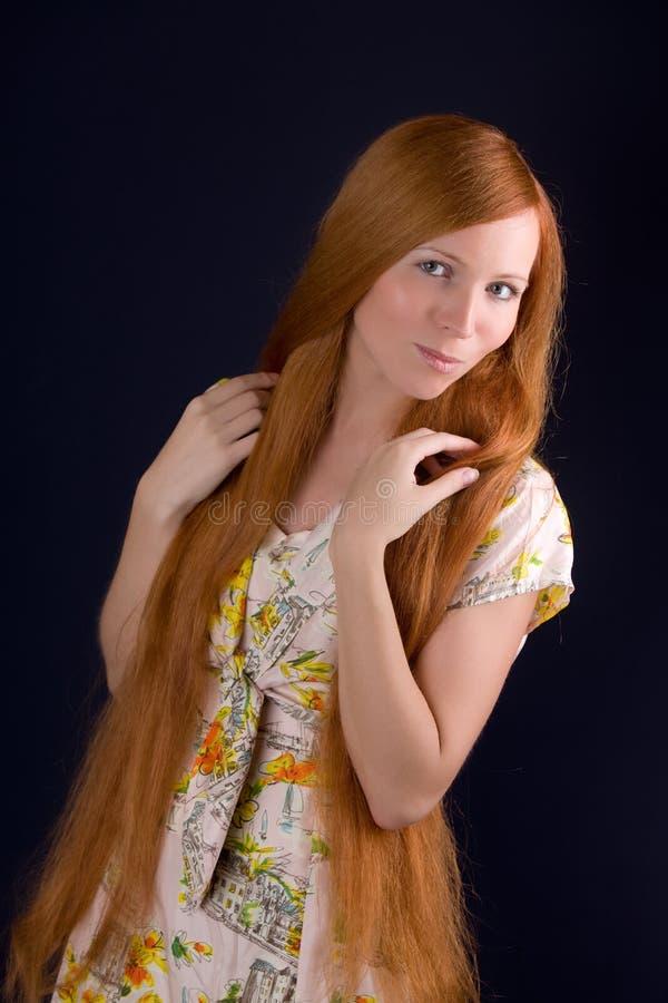 Fille avec le long cheveu photos libres de droits