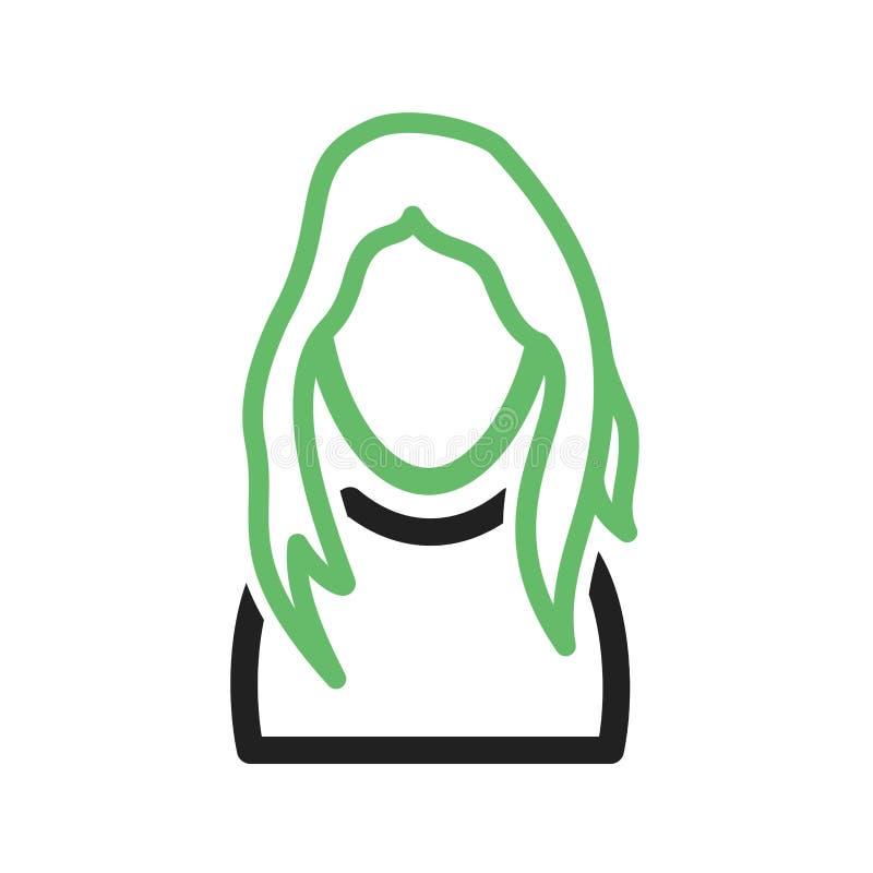 Fille avec le long cheveu illustration libre de droits