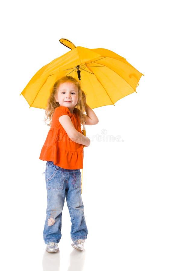 Fille avec le parapluie photographie stock