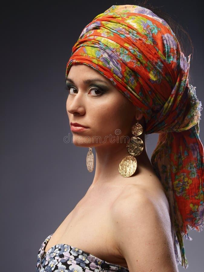 Fille avec le turban photo libre de droits