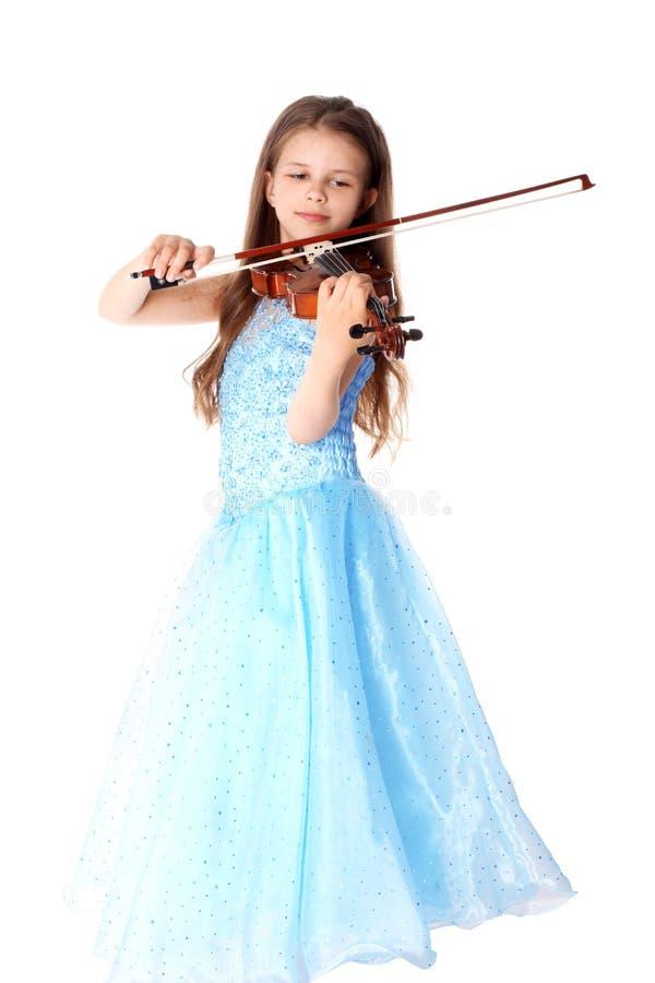 Fille avec le violon images stock