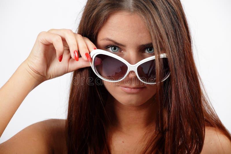 Fille avec lunettes de soleil photos libres de droits
