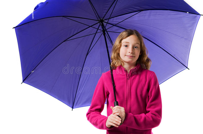 Fille avec un parapluie photo stock