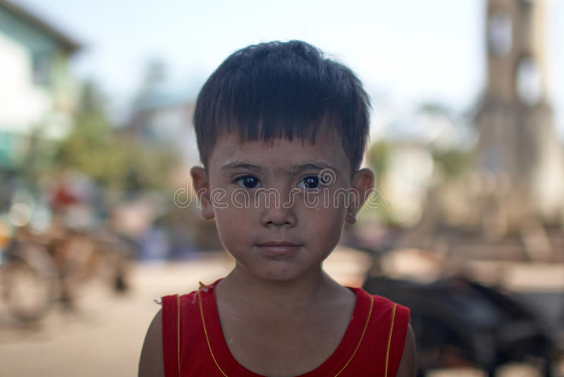 Fille birmanne photographie stock