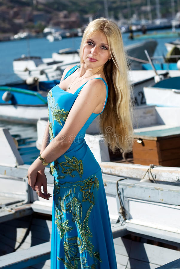 fille blonde image stock