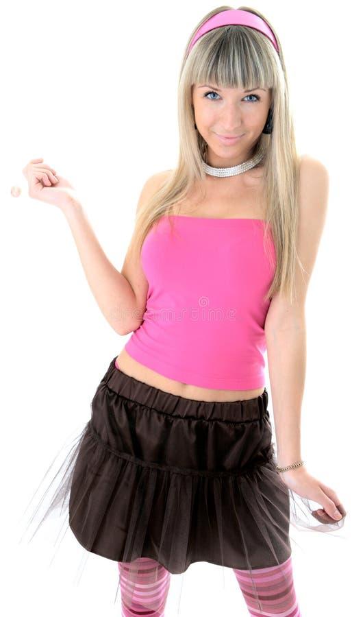 fille blonde de sucrerie de beauté images libres de droits