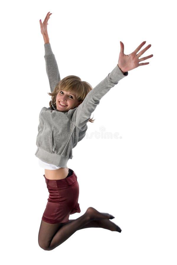 Fille branchante photo stock