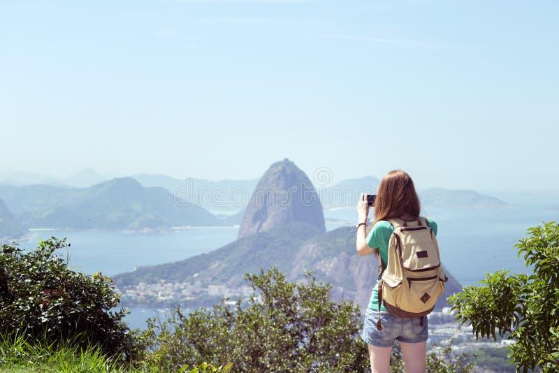 Fille chez Rio de Janeiro images libres de droits