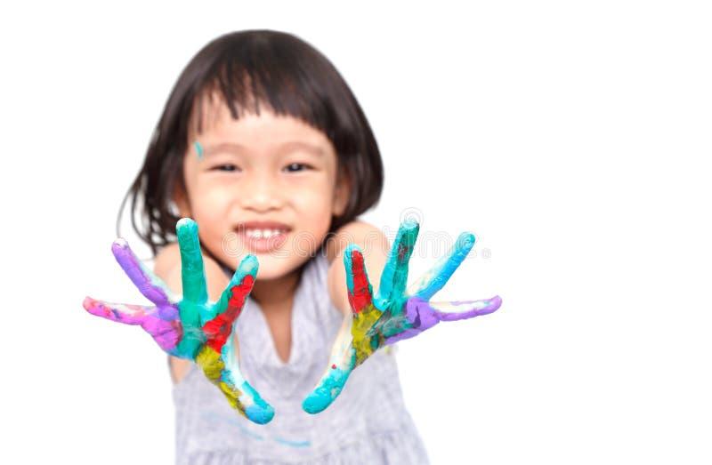 Fille colorée photos libres de droits