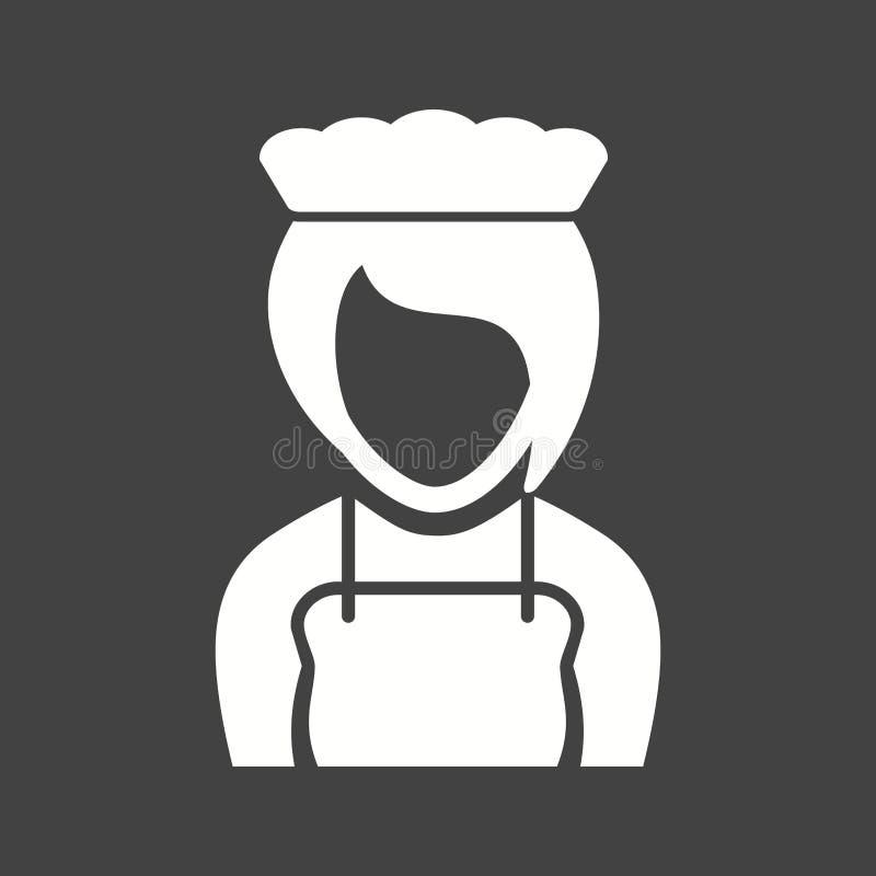 Fille comme serveuse illustration stock