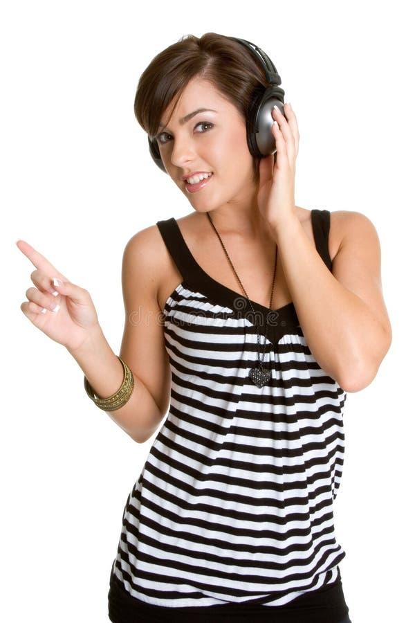 Fille d'écouteurs images libres de droits