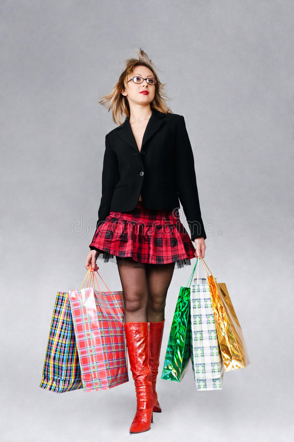 Fille d'achats images stock