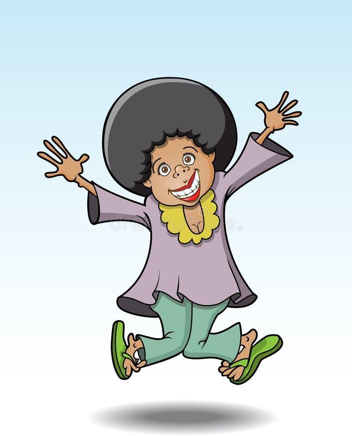 Fille d'Afro illustration de vecteur