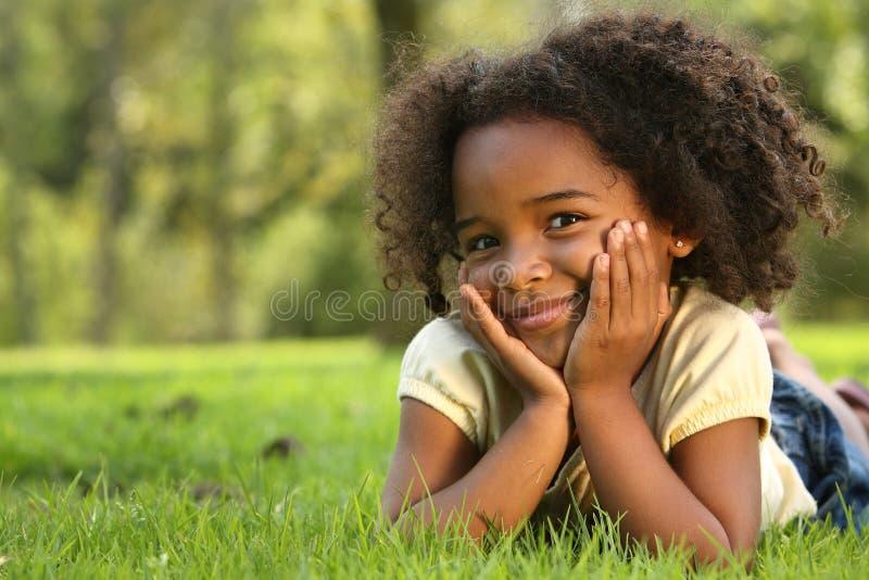 Fille d'Afro photo libre de droits