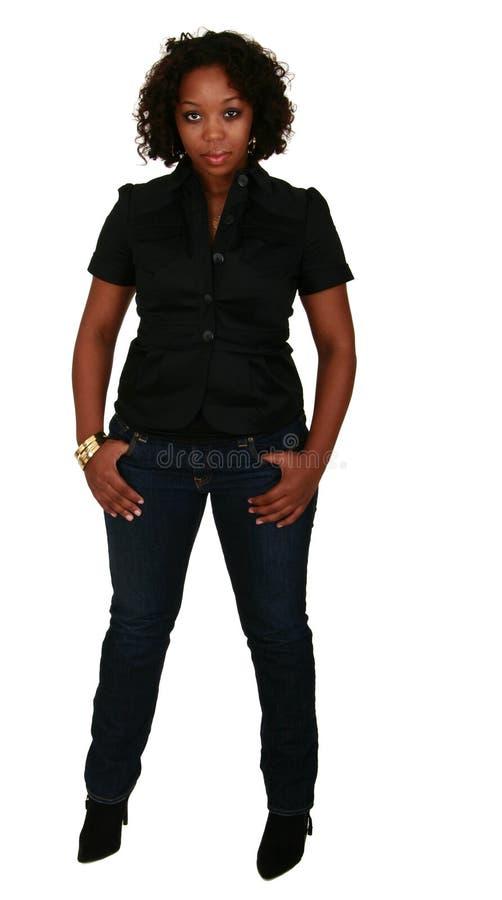 Fille d'Afro-américain posant 2 images stock