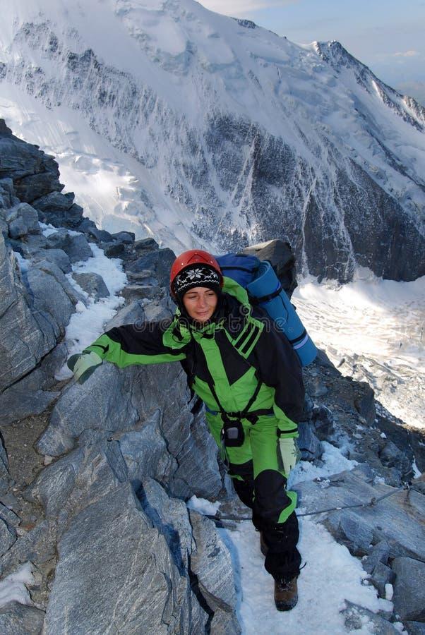 Fille d'alpiniste images libres de droits