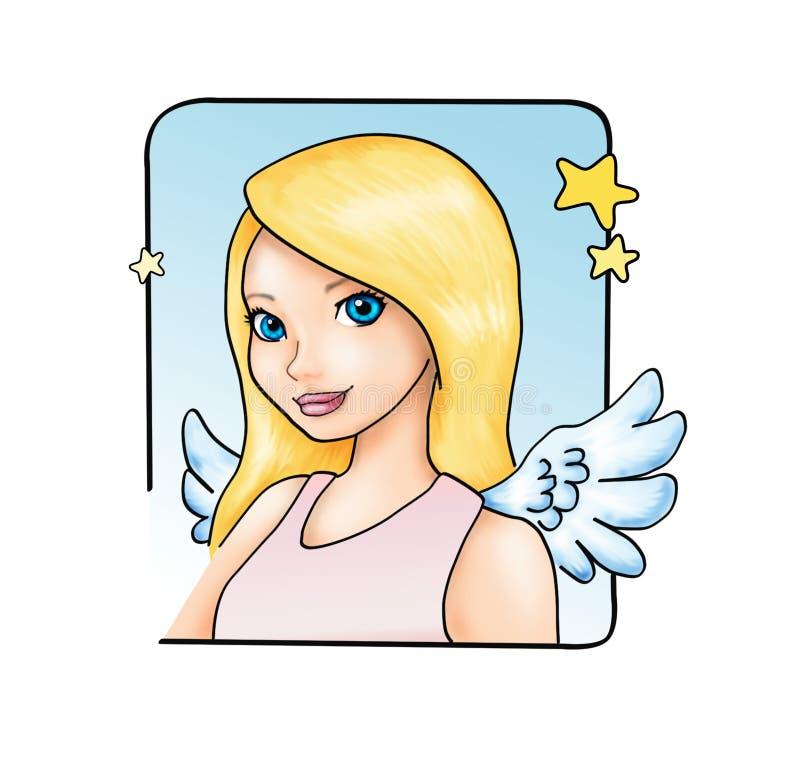 Fille d'ange illustration de vecteur