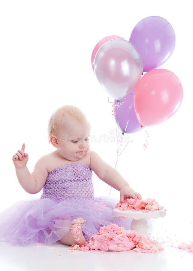 Fille d'anniversaire photo stock