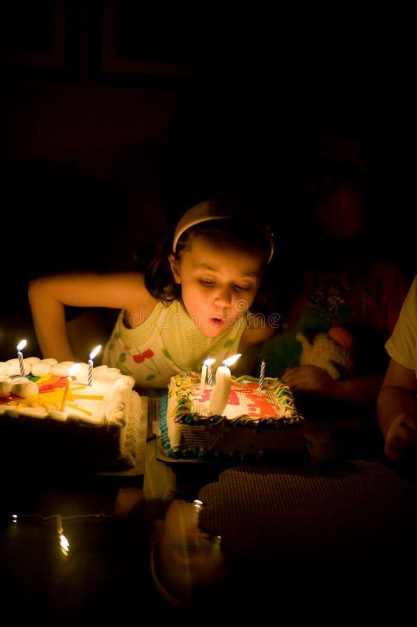 Fille d'anniversaire image libre de droits
