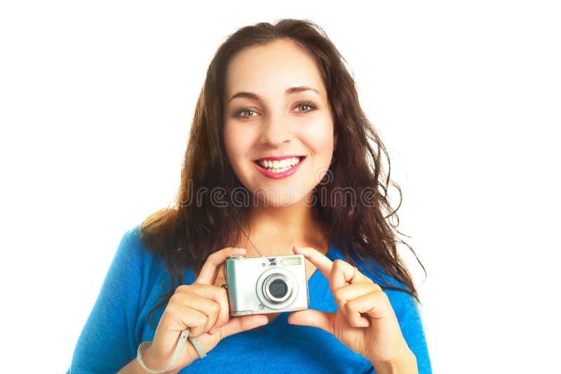 fille d'appareil-photo jolie photographie stock