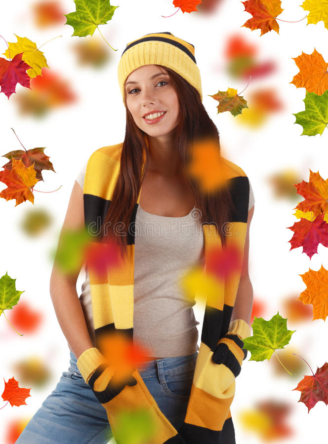 Fille d'automne photo stock