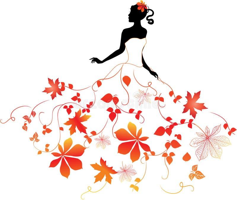 Fille d'automne illustration libre de droits