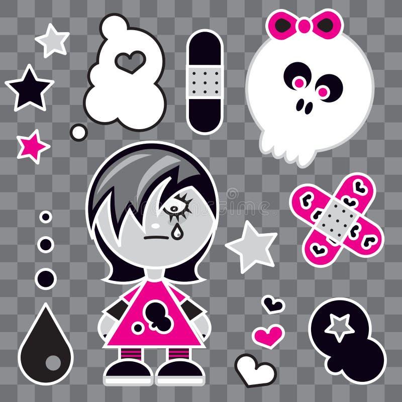 Fille d'Emo illustration stock