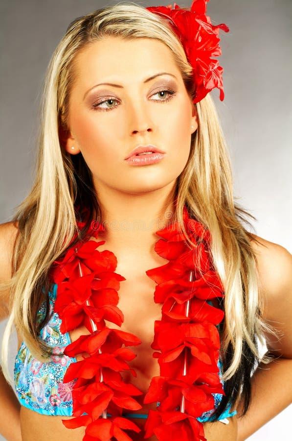 Fille d'Hawaï photographie stock libre de droits