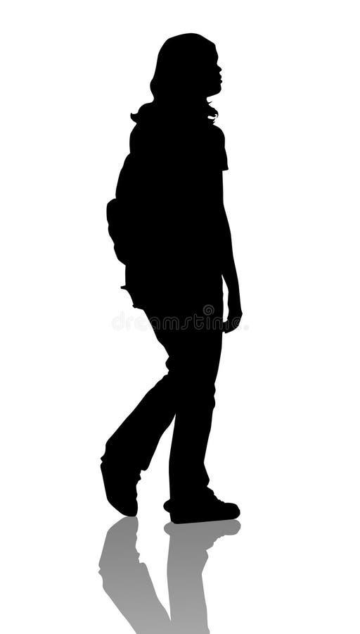 Fille d'isolement illustration de vecteur