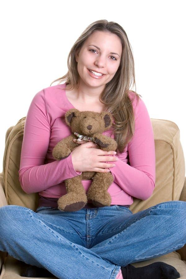 Fille d'ours de nounours images stock