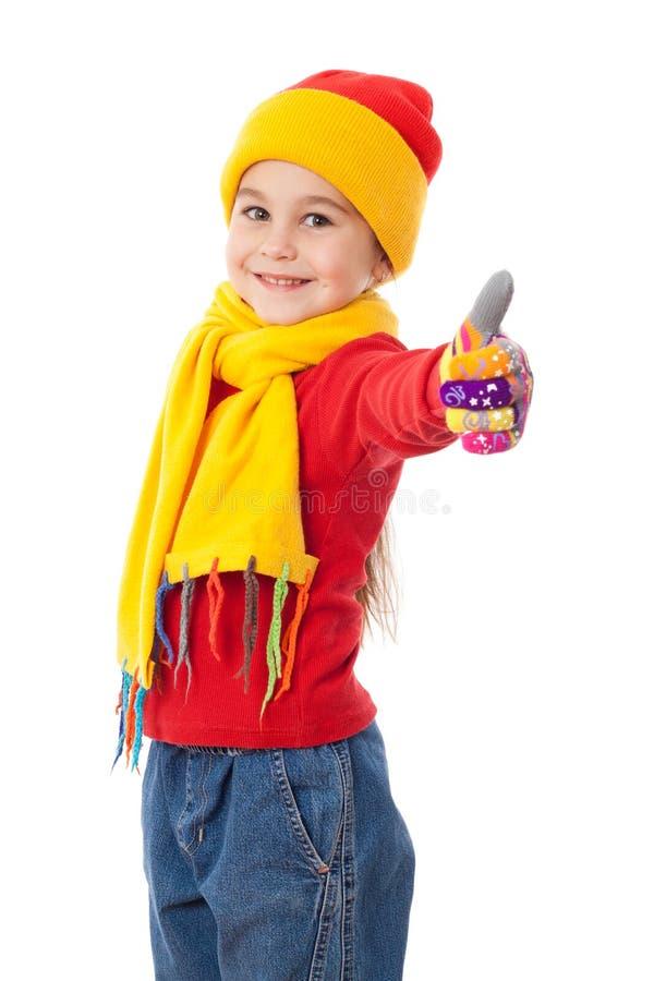 Fille dans des vêtements de l'hiver photo stock