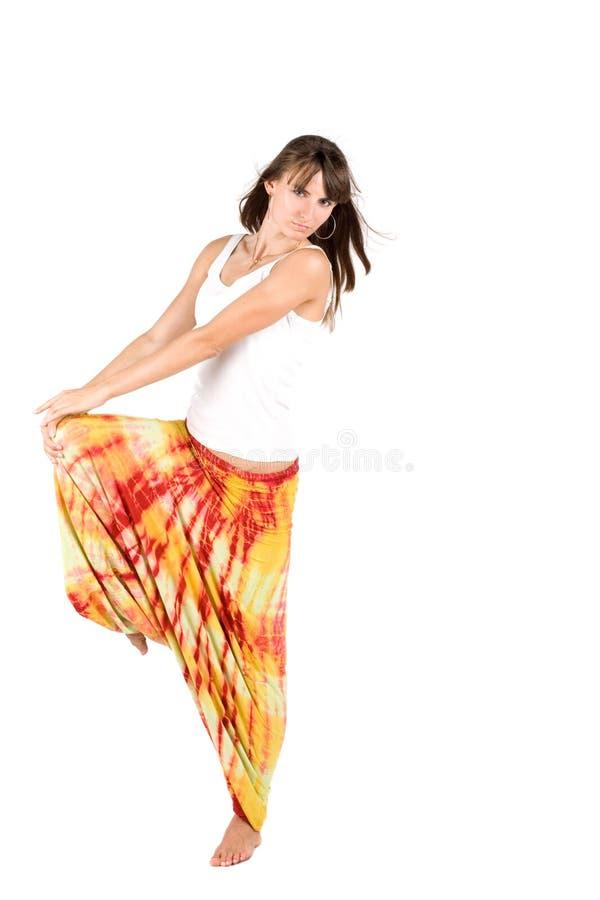 Fille dans des vêtements ethniques photos stock