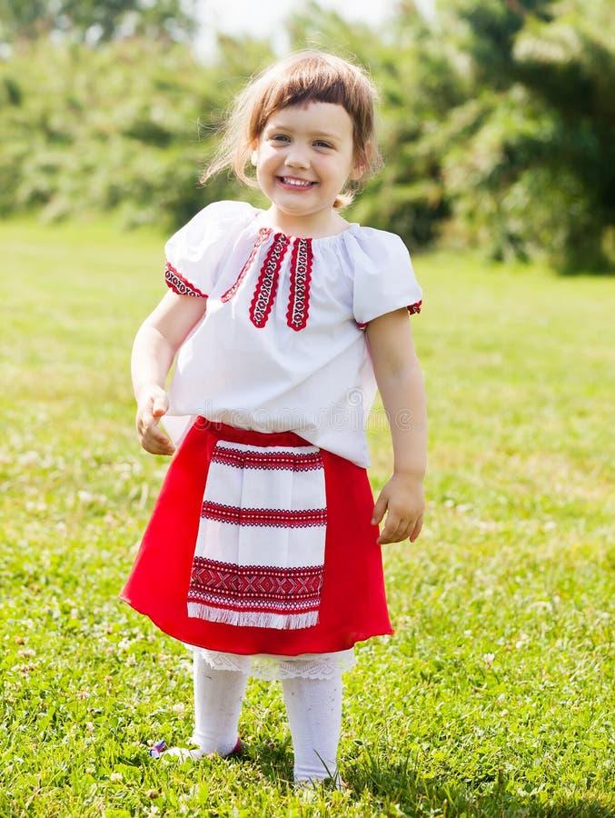 Fille dans des vêtements folkloriques russes images libres de droits