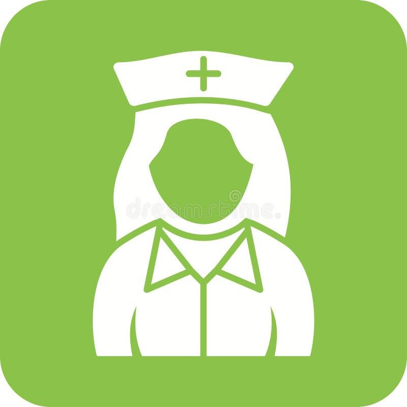 Fille dans l'infirmière Uniform illustration stock