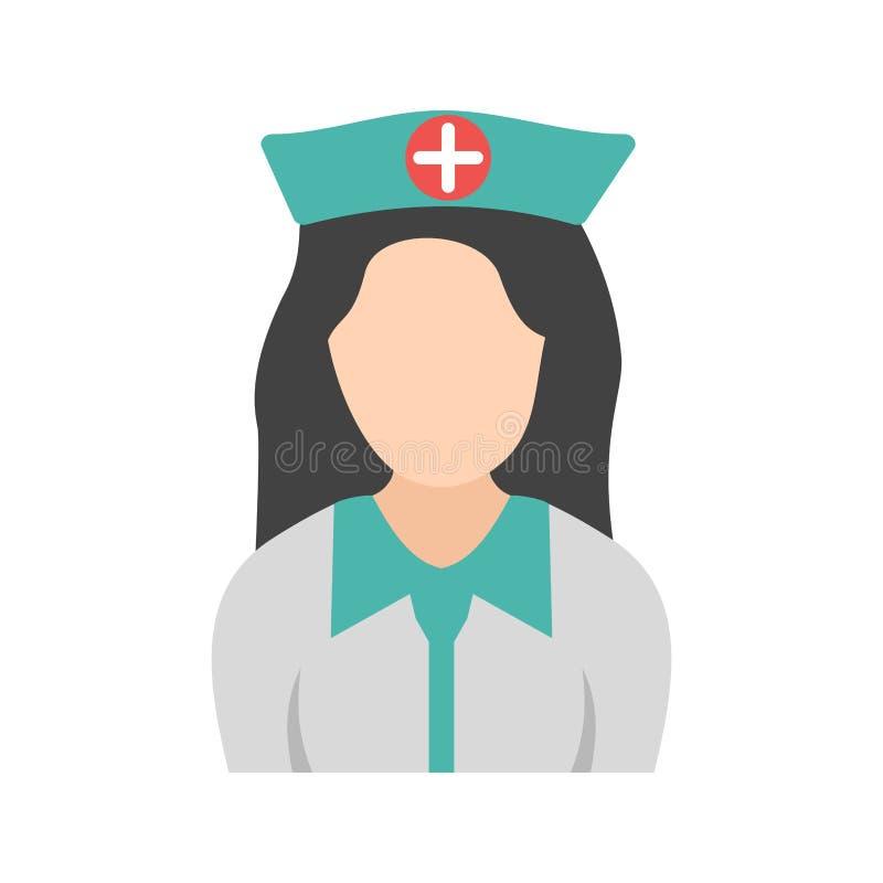 Fille dans l'infirmière Uniform illustration de vecteur