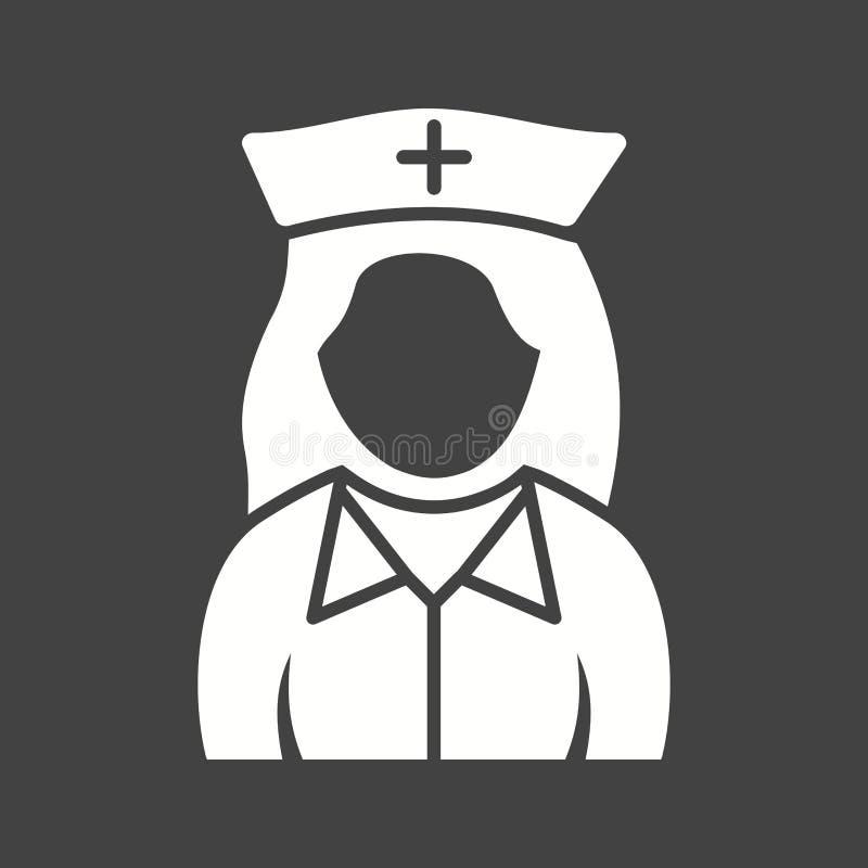 Fille dans l'infirmière Uniform illustration libre de droits
