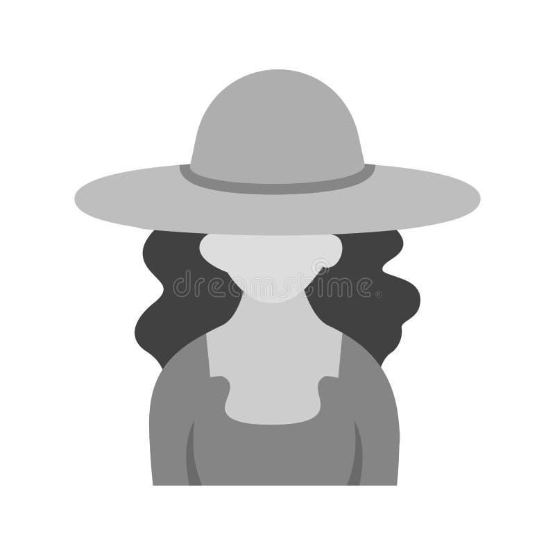 Fille dans le chapeau occasionnel illustration stock