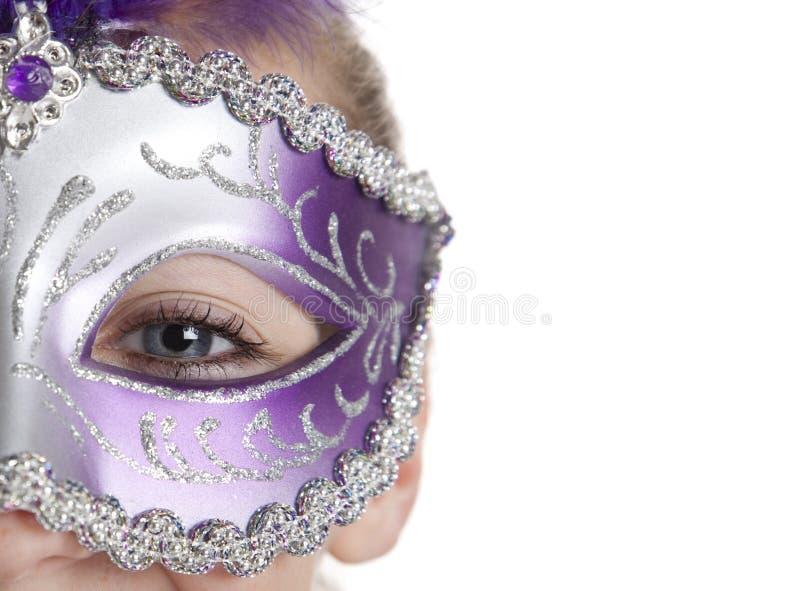 Fille dans le masque images stock