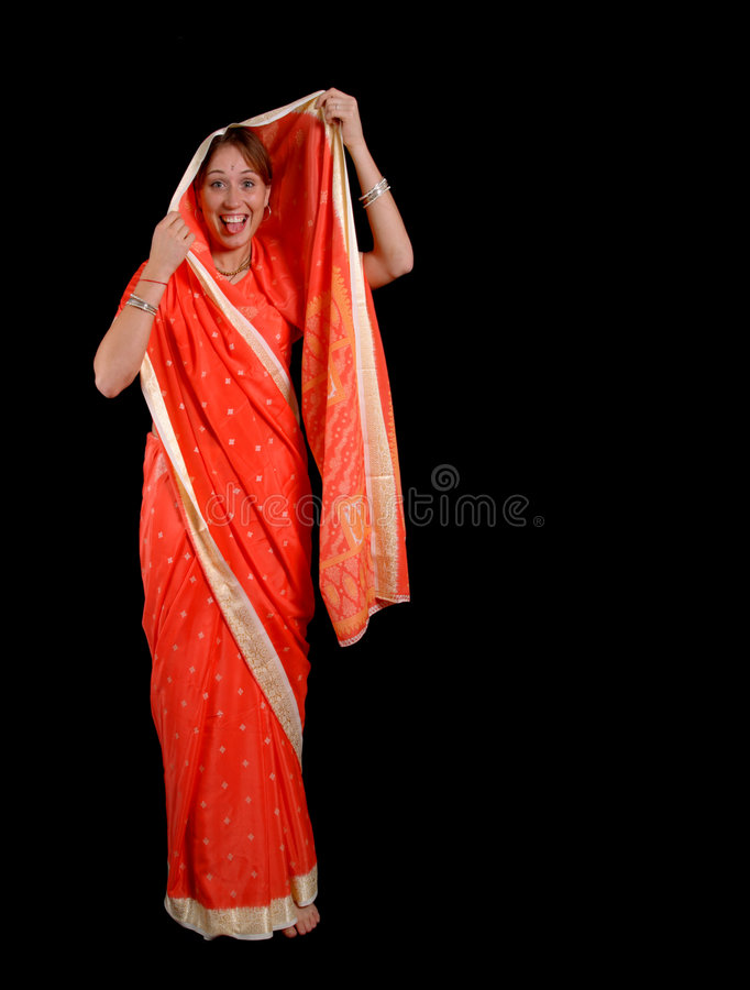 Fille dans le sari photos stock