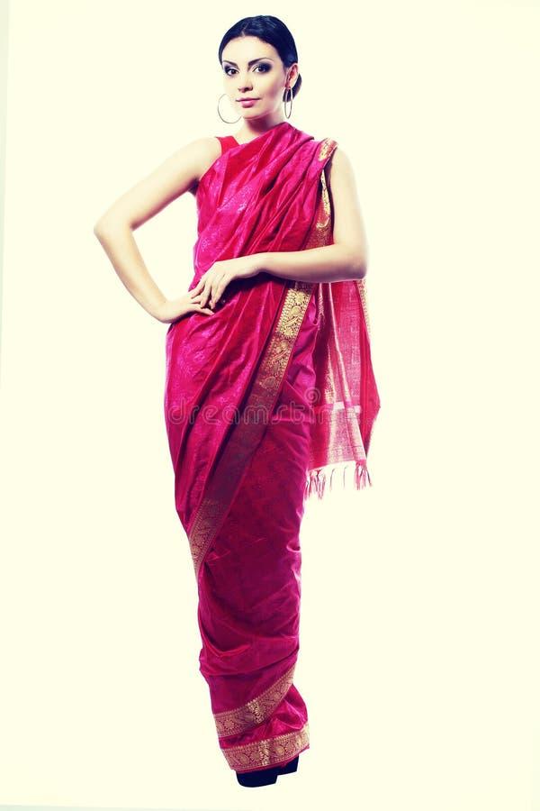 Fille dans le sari image libre de droits