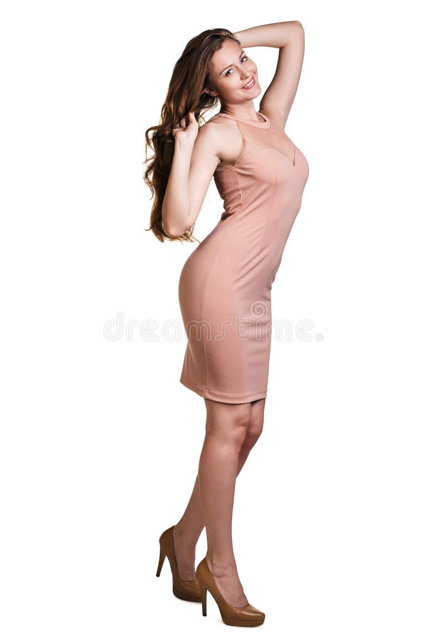 Fille dans une robe photographie stock libre de droits