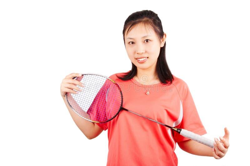 Fille de badminton photographie stock libre de droits